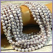 Материалы для творчества handmade. Livemaster - original item Pearls Lilac delicate galtovka. thread. Handmade.