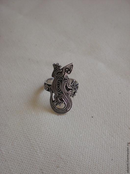 """Кольца ручной работы. Ярмарка Мастеров - ручная работа. Купить кольцо """"Ящерица"""". Handmade. Серебро"""