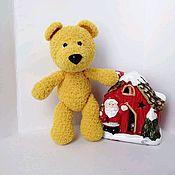 Мягкие игрушки ручной работы. Ярмарка Мастеров - ручная работа Вязаный медведь. Handmade.