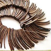 Материалы для творчества handmade. Livemaster - original item Natural coconut stick beads. Handmade.