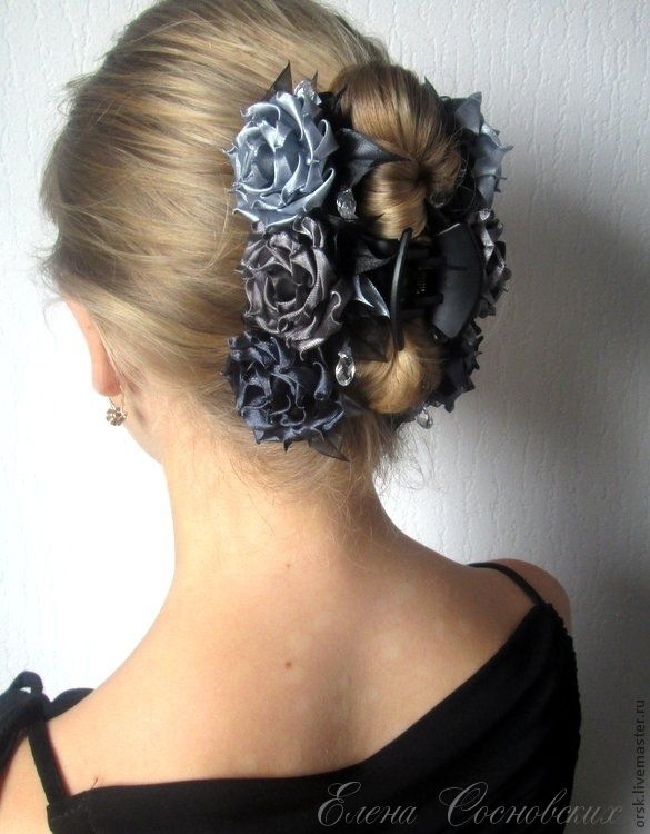 Украсить краб для волос своими руками