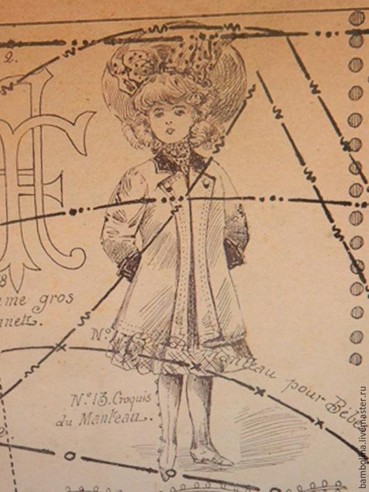 Обучающие материалы ручной работы. Ярмарка Мастеров - ручная работа. Купить Антикварная выкройка жакета для французских антикварных  кукол. Handmade.