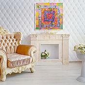 Картины и панно handmade. Livemaster - original item Painting acrylic. Abstract. Heat.100h100.. Handmade.