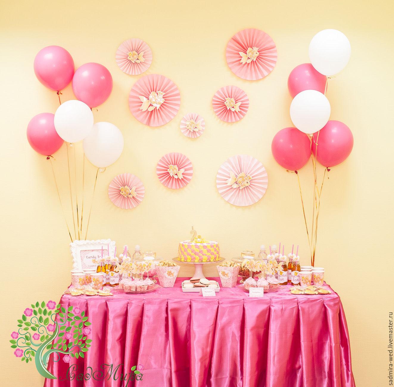 ручной работы. Ярмарка Мастеров - ручная работа. Купить Сладкий стол (Кэнди бар) Золотая рыбка. Handmade. Розовый