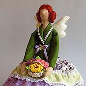 Куклы и игрушки ручной работы. Ярмарка Мастеров - ручная работа Тильда ангел Цветочница. Handmade.