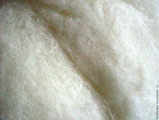 Валяние ручной работы. Ярмарка Мастеров - ручная работа. Купить Смесь - шерсть/бамбуковые волокна, 27 мкр, Nat.white, 50 гр. Handmade.