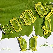 Украшения ручной работы. Ярмарка Мастеров - ручная работа Желтая магнолия. Handmade.