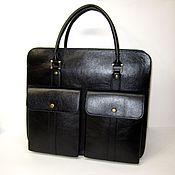 Сумки и аксессуары handmade. Livemaster - original item bag. Big black. Genuine Italian leather.. Handmade.