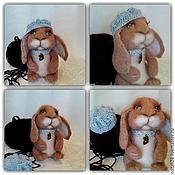 Куклы и игрушки ручной работы. Ярмарка Мастеров - ручная работа Игрушка из шерсти Кролик Пуф. Handmade.