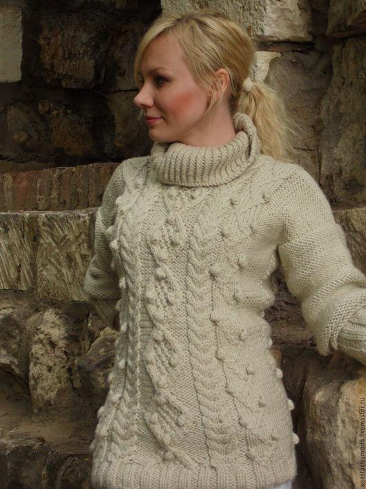 Кофты и свитера ручной работы. Ярмарка Мастеров - ручная работа. Купить Уютный свитер цвета экрю. Handmade. Бежевый