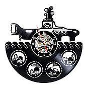 """Часы классические ручной работы. Ярмарка Мастеров - ручная работа Часы """"The Beatles"""". Handmade."""