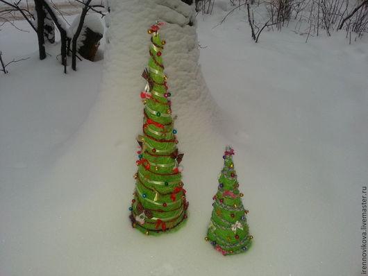 Статуэтки ручной работы. Ярмарка Мастеров - ручная работа. Купить Елка Новогодняя-2 ( украшение стола, сувенир, колпак для подарка). Handmade.