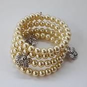 Украшения handmade. Livemaster - original item The Bees spiral bracelet with pendants. Handmade.