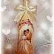 """Свадебные аксессуары ручной работы. Ярмарка Мастеров - ручная работа. Купить Свадебный декор, бутылочка """"Молодожёны"""". Handmade. Декупаж"""