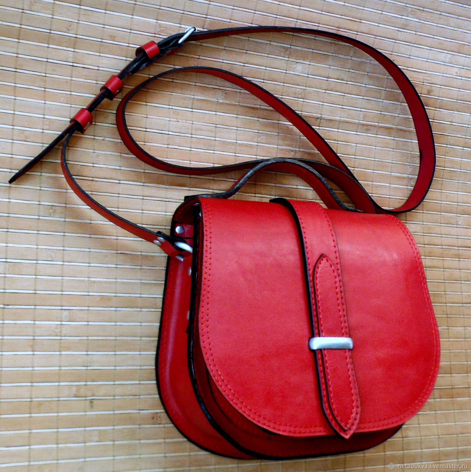 Leather bag ' the RED snowball tree ', Classic Bag, Moscow,  Фото №1