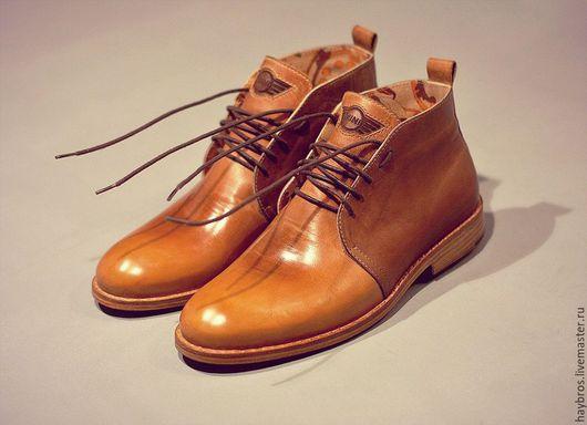 Обувь ручной работы. Ярмарка Мастеров - ручная работа. Купить мужские туфли. Handmade. Коричневый, классический стиль, кожа натуральная