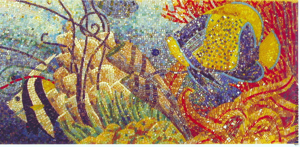 Купить мозаичное панно Морские рыбы - мозаика, мозаика из ...: https://www.livemaster.ru/item/2678787-dlya-doma-interera-mozaichnoe-panno-morskie
