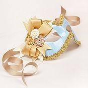 """Одежда ручной работы. Ярмарка Мастеров - ручная работа Карнавальные маски """"Верона"""" Голубой/Золото. Handmade."""