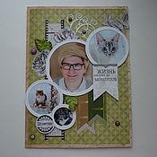 Открытки ручной работы. Ярмарка Мастеров - ручная работа Большая открытка с днем рождения. Handmade.