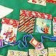 """Детская ручной работы. Заказать Новогоднее панно с кармашками в морском стиле, именное""""Елочка"""" -6. Наталья Легкая. Ярмарка Мастеров."""