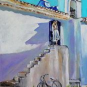 Картины и панно ручной работы. Ярмарка Мастеров - ручная работа картина маслом Легким ветерком. Handmade.