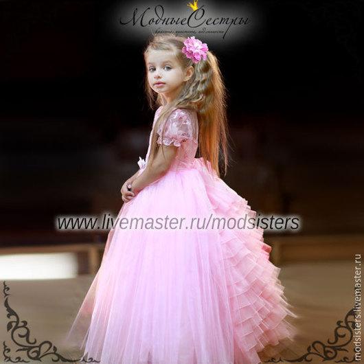 """Одежда для девочек, ручной работы. Ярмарка Мастеров - ручная работа. Купить Детское платье """"Бальное"""" розовое Арт.-103. Handmade."""