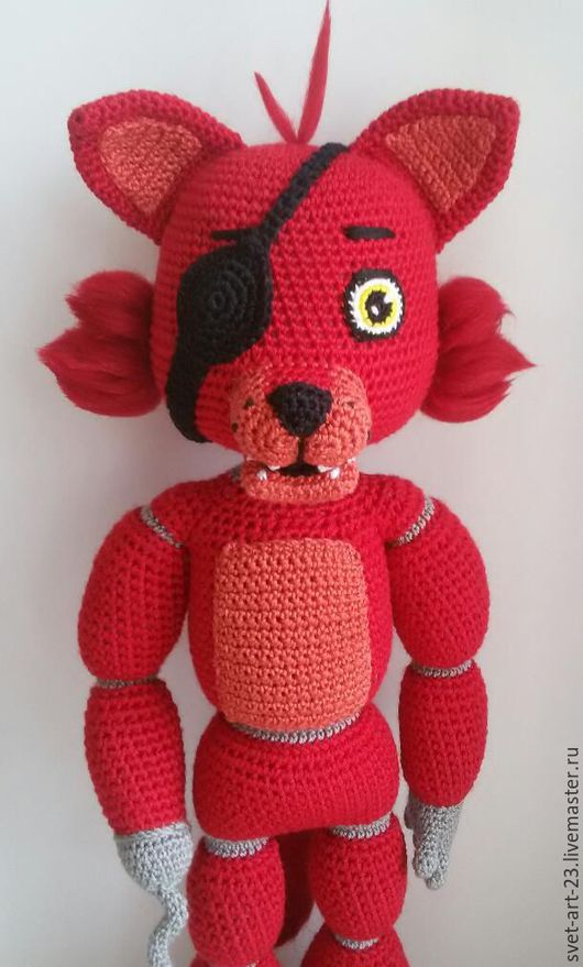 Игрушки животные, ручной работы. Ярмарка Мастеров - ручная работа. Купить Лис Фокси. Handmade. Красный, игрушка фокси, fnaf