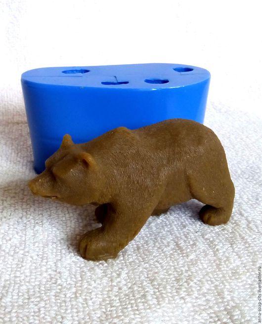 """Другие виды рукоделия ручной работы. Ярмарка Мастеров - ручная работа. Купить Силиконовая форма для мыла """"Бурый медведь"""". Handmade."""