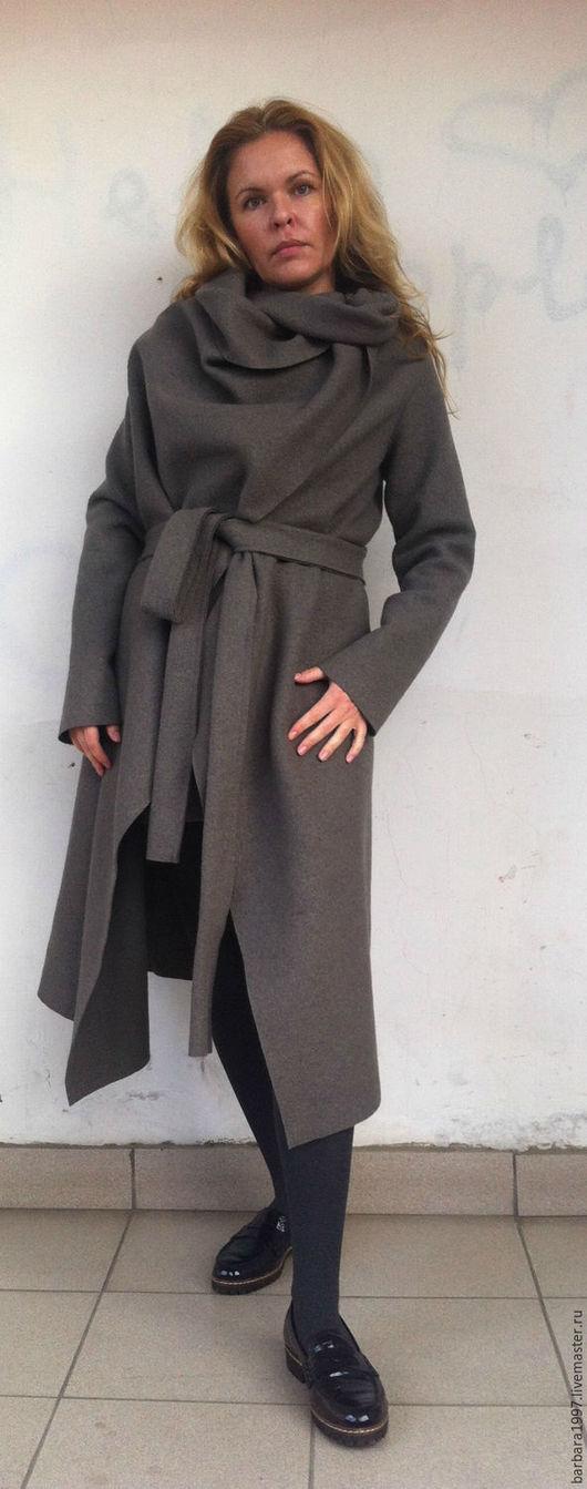 Верхняя одежда ручной работы. Ярмарка Мастеров - ручная работа. Купить Пальто СOZY Cocoa. Handmade. Бежевый, пальто с поясом