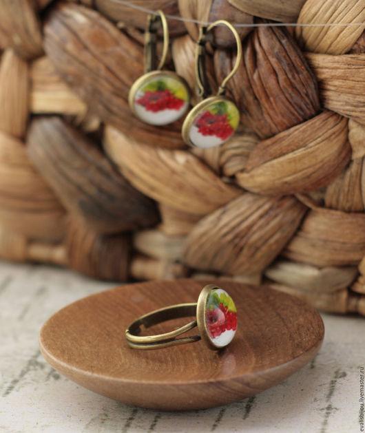 """Кольца ручной работы. Ярмарка Мастеров - ручная работа. Купить Кольцо """"Смородина красная"""". Handmade. Ярко-красный, кольцо"""
