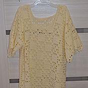 Одежда ручной работы. Ярмарка Мастеров - ручная работа Летняя ажурная майка. Handmade.