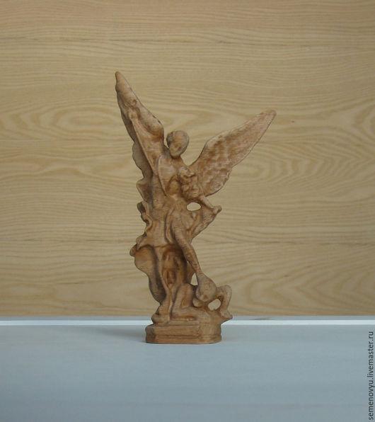 Статуэтки ручной работы. Ярмарка Мастеров - ручная работа. Купить Архангел - резная статуэтка. Handmade. Золотой, резная статуэтка, бук