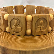 Русский стиль handmade. Livemaster - original item Orthodox bracelet from Boxwood. Handmade.