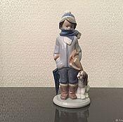 Предметы интерьера винтажные ручной работы. Ярмарка Мастеров - ручная работа LLADRO фарфоровая статуэтка 5220 Зима. Handmade.