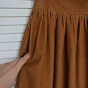 Одежда handmade. Livemaster - original item Skirt corduroy