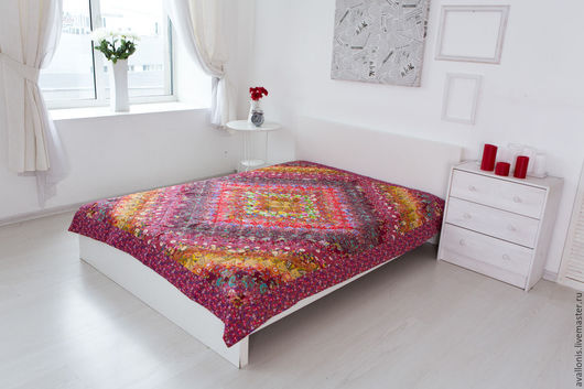 Home Textiles & Carpets handmade. Livemaster - handmade. Buy Patchwork single bedspread Red.Bedroom