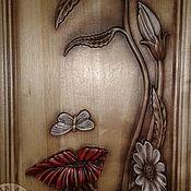 Картины и панно ручной работы. Ярмарка Мастеров - ручная работа Резное дерево_Отражение2. Handmade.