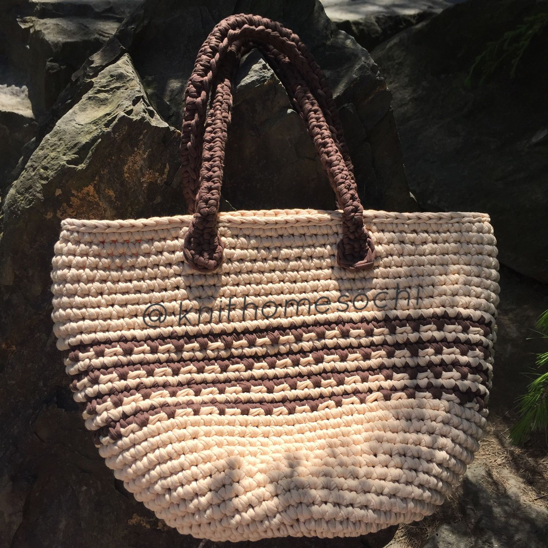 0cc19b14a2e1 Вязание · ручной работы. Пляжная сумка. Knithomesochi. Интернет-магазин  Ярмарка Мастеров. Женская сумка