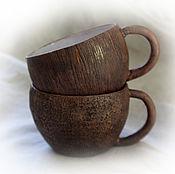 """Посуда ручной работы. Ярмарка Мастеров - ручная работа Пара чашек """"Шоколадка"""". Handmade."""