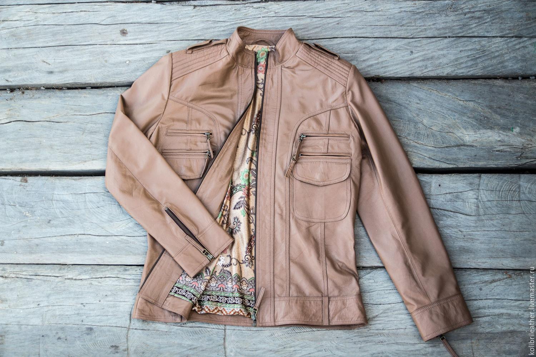 Women's leather jacket . Jacket made of genuine leather, Outerwear Jackets, Chelyabinsk,  Фото №1