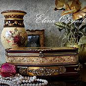 Для дома и интерьера ручной работы. Ярмарка Мастеров - ручная работа Шкатулка большая тройник Винтажные розы. Handmade.