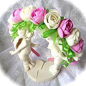 Работы для детей, ручной работы. Ярмарка Мастеров - ручная работа ободок с розами. Handmade.