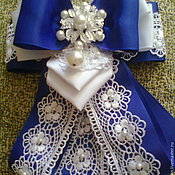 """Аксессуары handmade. Livemaster - original item Bow brooch """"Cobalt"""". Handmade."""