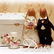 Свадебный салон ручной работы. Ярмарка Мастеров - ручная работа Свадебные зайцы. Handmade.