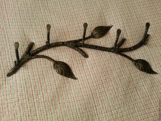 """Прихожая ручной работы. Ярмарка Мастеров - ручная работа. Купить Кованая вешалка """"Ветка"""". Handmade. Черный, патина, кованые изделия"""