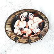 Для дома и интерьера handmade. Livemaster - original item Hanger panel Bath. Handmade.