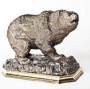 Figurines handmade. Livemaster - original item Bear bronze sculpture. Handmade.