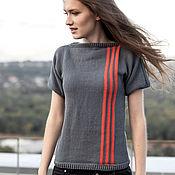Одежда handmade. Livemaster - original item cashmere sweater with short sleeve. Handmade.