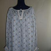Народные рубахи ручной работы. Ярмарка Мастеров - ручная работа Блуза с длинным рукавом. Handmade.