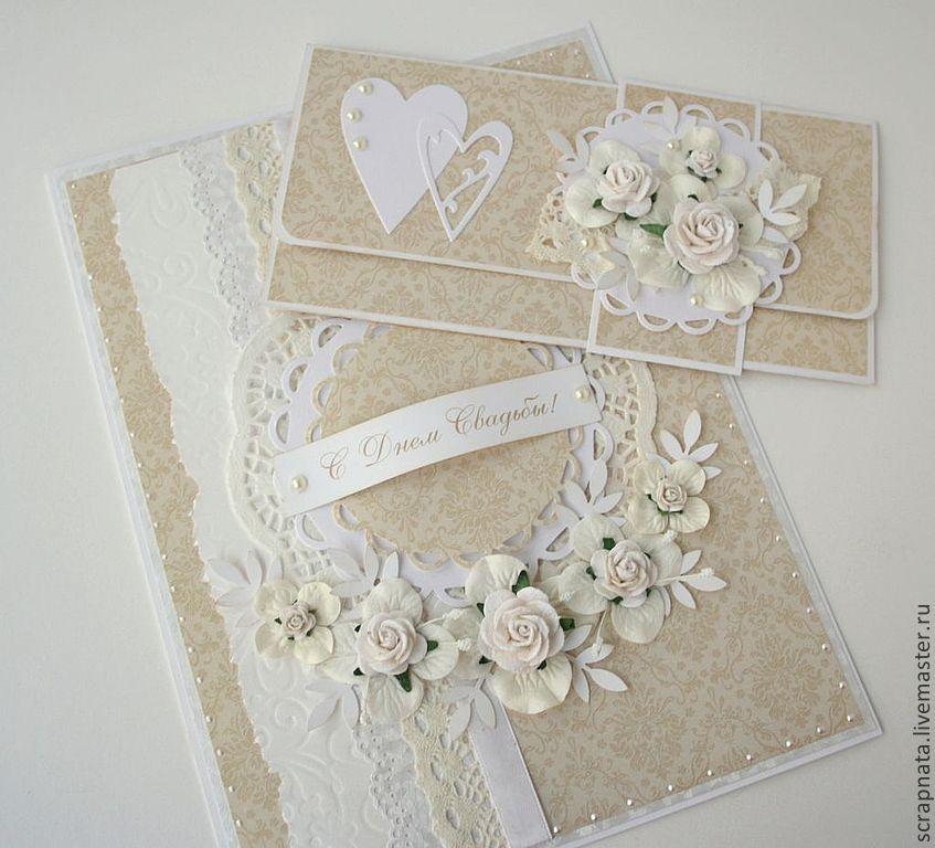 Свадебный конверт скрапбукинг